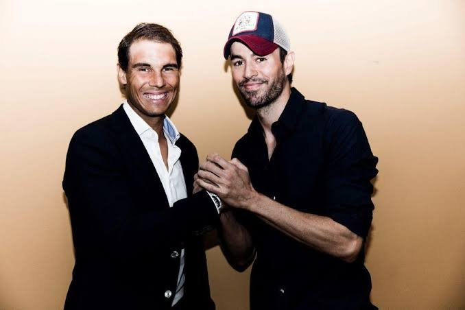 Rafael Nadal and Enrique Iglesias