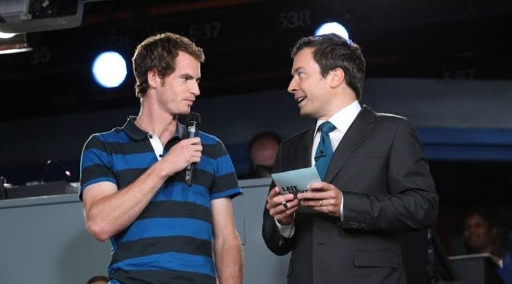 Jimmy Fallon and Andy Murray at US Open 2019