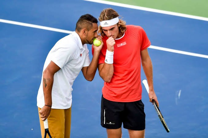 Stefanos Tsitsipas and Nick Kyrgios