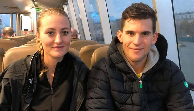 Dominic Thiem and Kristina Mladenovic