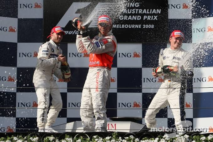 Watch: Lewis Hamilton and Nico Rosberg Celebrating Each Others Podium in 2008 - Essentially Sports
