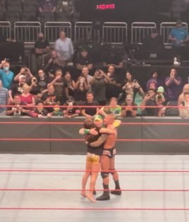 WATCH: John Cena Shares a Fun Moment With Riddle and Randy Orton After WWE Raw