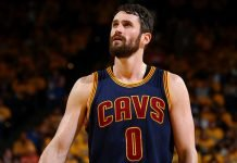 Kevin Love playing for Cleveland Cavaliers