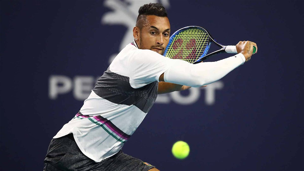 Nick Kyrgios divides opinion with astonishing underarm serves at the Miami Open