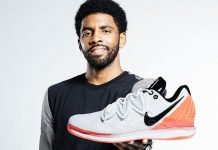 Kyrie Irving with shoe