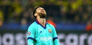 Lionel Messi dejected
