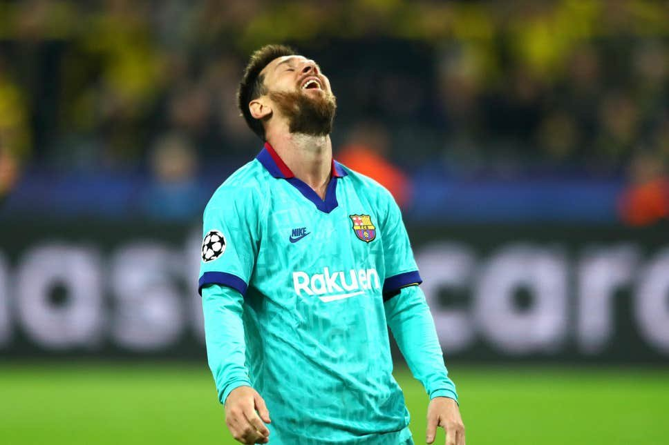 Lionel Messi dejected