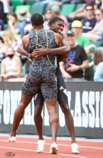 Noah Lyles Celebrates With Brother Josephus Lyles As Both Run Record Timings At Diamond League