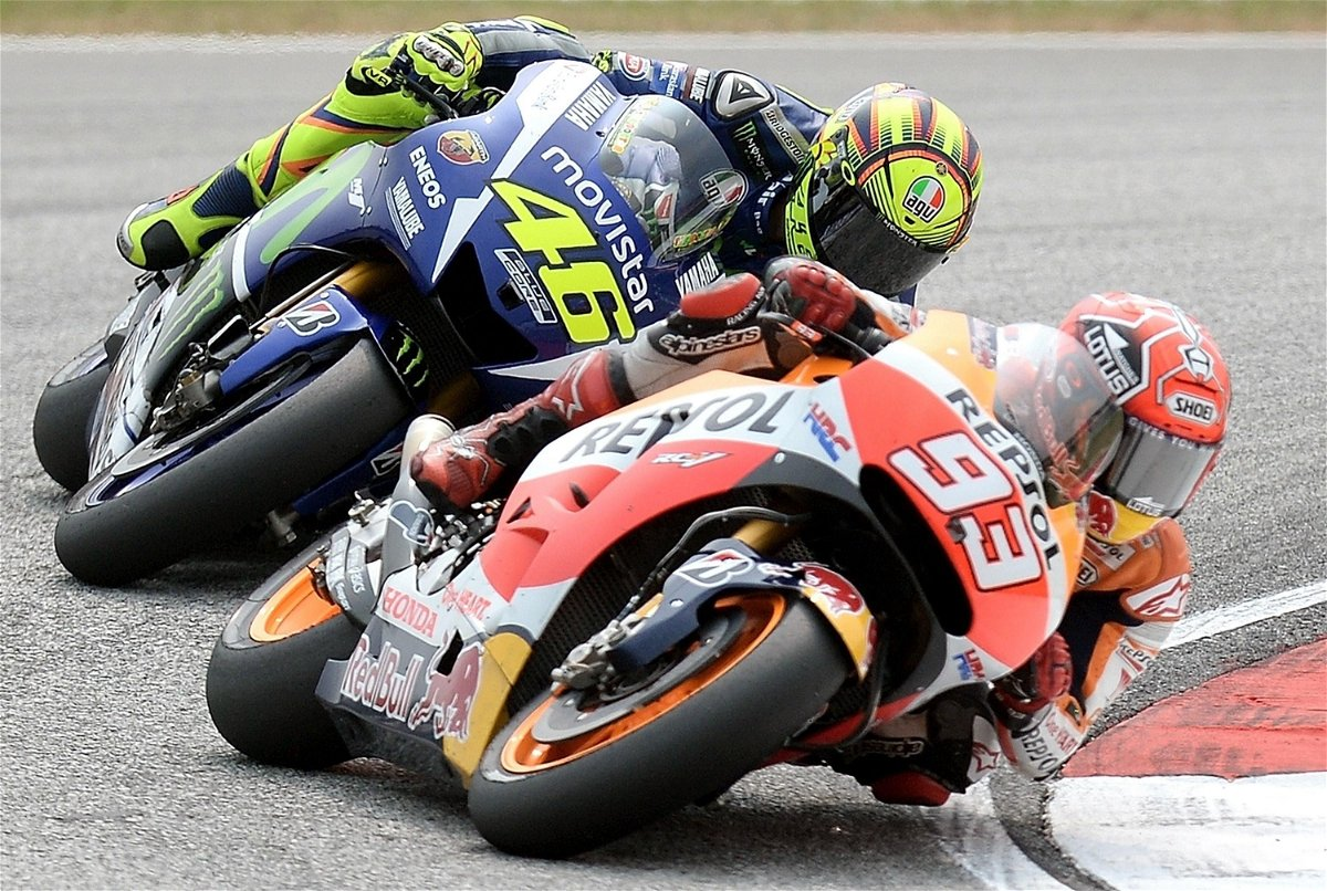 Valentino Rossi And Marc Marquez Almost Collide During San Marino Qualifying Essentiallysports