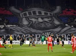 A game at the Red Star Belgrade ground