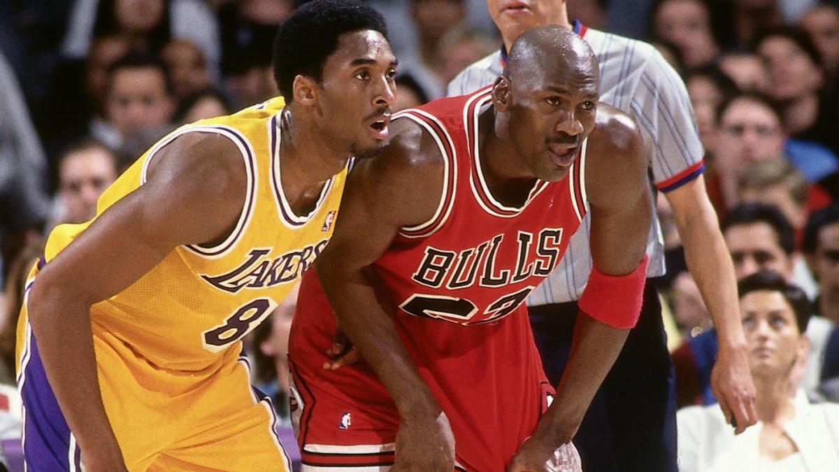 LA Lakers' Kobe Bryant and Chicago Bulls' Michael Jordan