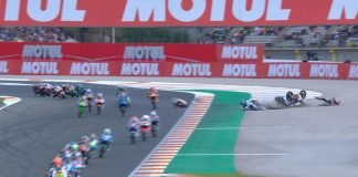Crash in Moto 3