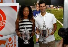 Naomi Osaka and Novak Djokovic