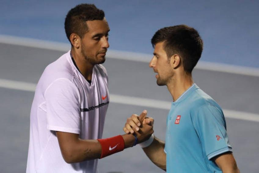 Nick Kyrgios and Novak Djokovic