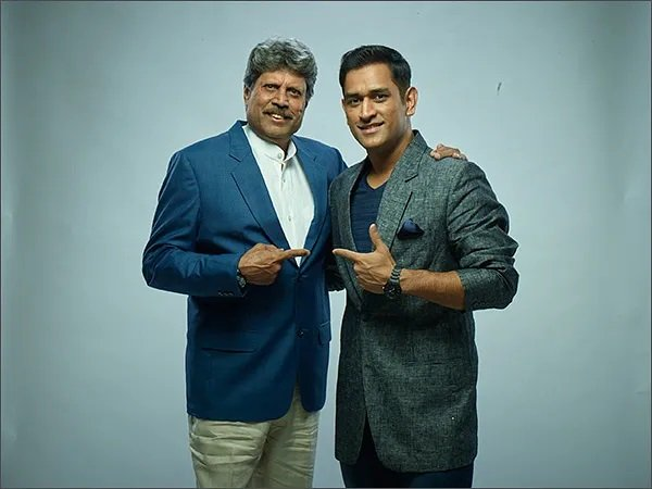 Image result for kapil dev and ms dhoni