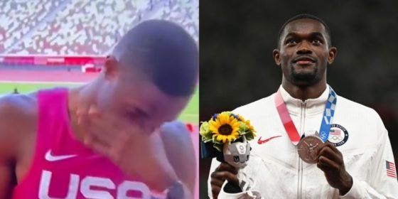 VIDEO: USA's Sprinter Rai Benjamin Breaks Down In Tears After Watching Family's Video