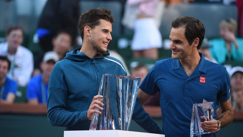 Dominic Thiem denied Roger Federer a record sixth Indian Wells title this year