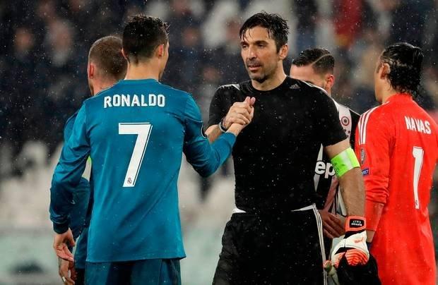 Christiano Ronaldo and Gianuilgi Buffon