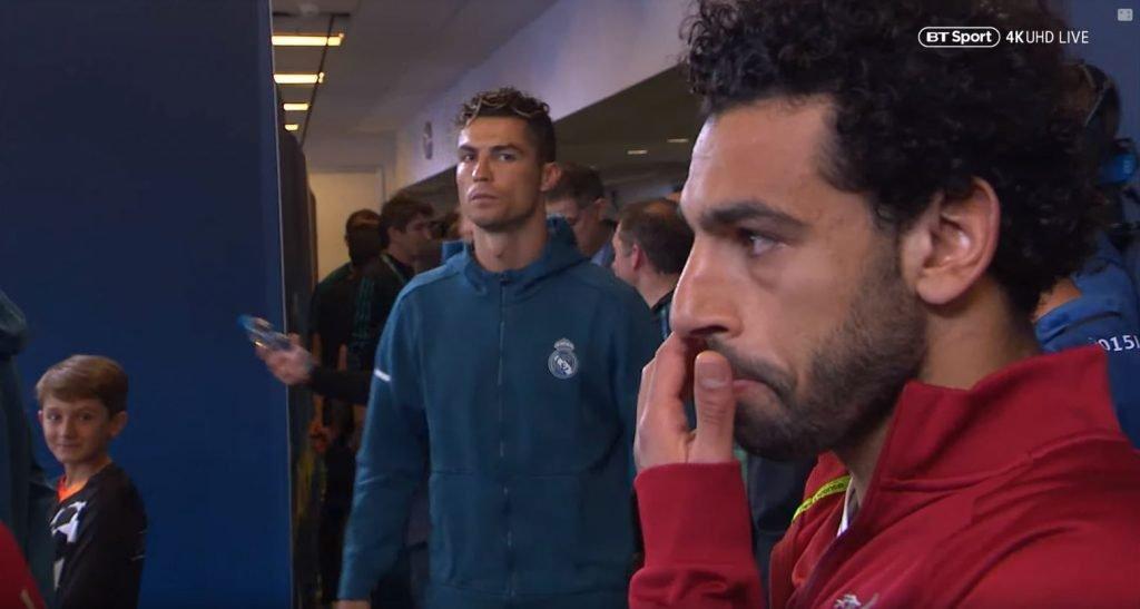 Ronaldo and Salah at the Champions League final