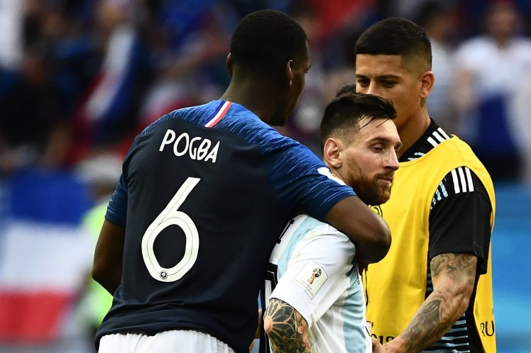 Pogba maybe seen playing with Leo Messi at Barcelona