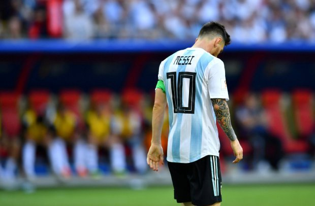 Messi was heartbroken after Argentina's loss to France.