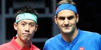 Kei Nishikori Roger Federer
