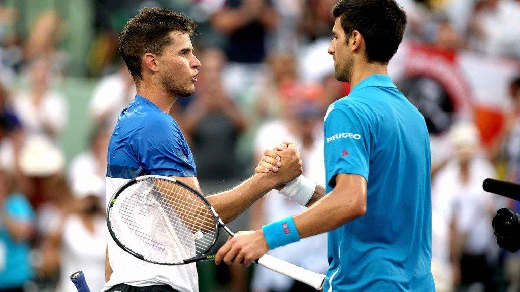 Dominic Thiem and Novak Djokovic in the Madrid semifinals